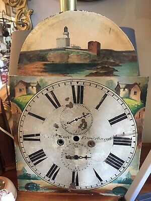 Antique Large Longcase Grandfather Clock Face Fraserburgh Scotland