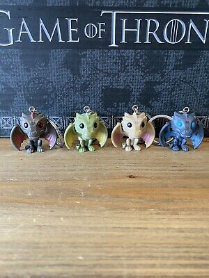 Funko Pocket Pop Keychains Game Of Thrones Lot Of 4 Dragons Icy Viserion Drogon