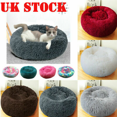 Calming Puppy Pet Dog Cat Bed Round Nest Warm Soft Comfortable Self Sleeping Mat
