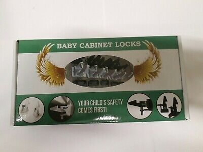 10PCS Baby Safety Cabinet Locks Invisible Child Kids Proof Cupboard Drawer White