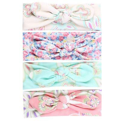 Cute Baby Headband Bunny Ear Girl Headwear Bow Elastic Knot Headbands