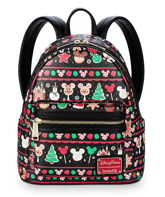Disney Parks Loungefly Holiday Food Snacks Icons Mini Backpack New 2019