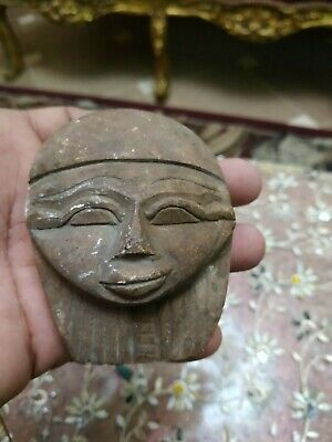 Very RARE ANCIENT EGYPTIAN ANTIQUE Pharaonic Face Statue 1375 bc