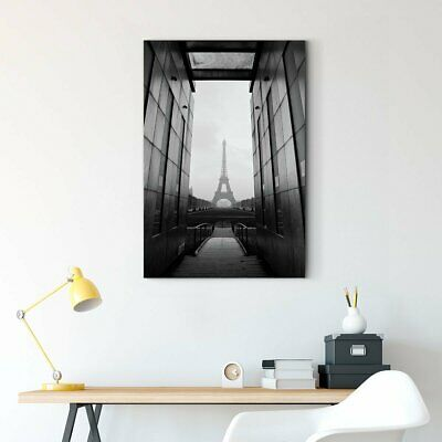 Framed Art Corridor between black and white picture to see the Eiffel Tower Wall