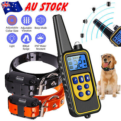 800M Rechargeable Dog Training Collar Remote Control Auto Waterproof Pet Trainer