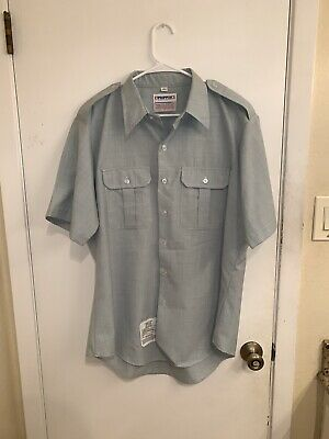 Propper Tactical Shirt Mens Size L Green Short Sleeve Button Down Military