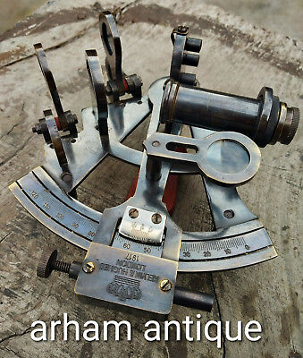 Vintage Navigation Astrolabe Working Sextant Marine Maritime Ship Instrument