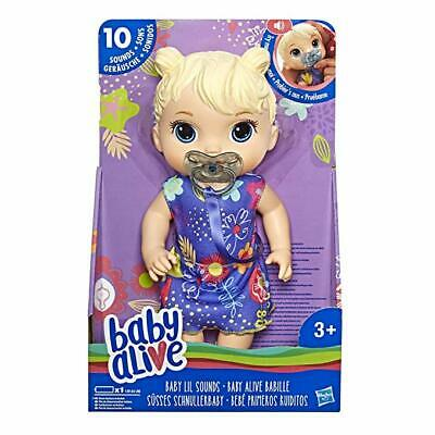 Baby Alive Baby Lil Sounds Interactive Doll, Blonde Hair