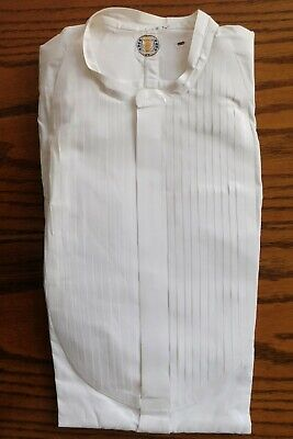Vintage pleated tunic dress shirt Radiac size 15 Edwardian starched collarless