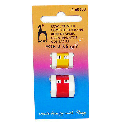 3 Sizes Whitecroft Knitting Row Counters Knitting Register Stitch Marker Tally