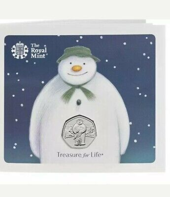 2019 Snowman & boy 50p fifty pence NEW UK Christmas coin Brilliant Uncirculated