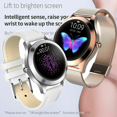 2019 Smart Watch Lady IP68 Fitness Tracker Heart Rate Monitor For iOS Android UK