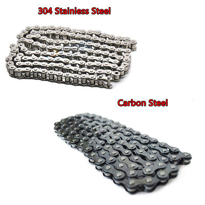 04C-1 Roller Chain Pitch 6.35mm 1/4 inch Single Row Chain Stainless/Carbon Steel