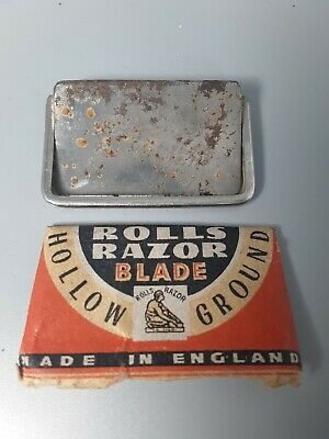 Rolls Razor Blade from 1947 (72 years old!)  sharpened by a pro, still usable!