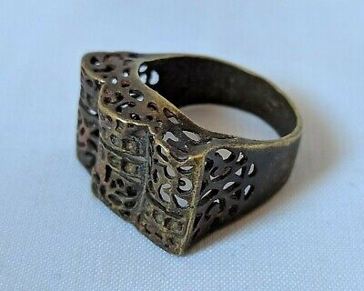 Ancient Roamn Antique Ring Bronze Artifact Very Old Stuning Extremely Rare