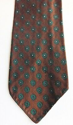 New and Lingwood tie from English silk squares vintage 1950s 1960s short brown