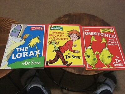 Dr Seuss The cat in the hat Classic collection  Lorax sneetches book child's x3