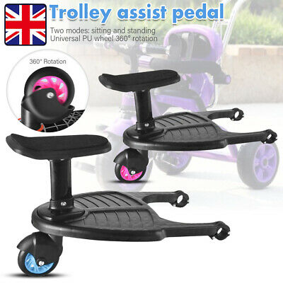 Buggy Board with Seat,Standing Board Ideal for Baby Jogger Travel Pram Pushchair