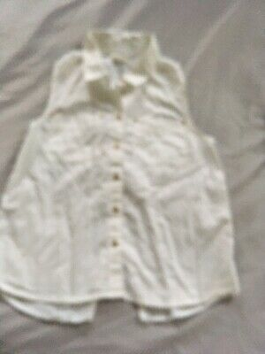 Girls White River Island Blouse Age 10 Years