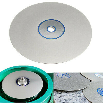 6'' Inch Grit 600 Diamond Coated Flat Lap Wheel Lapidary Grinding Polishing