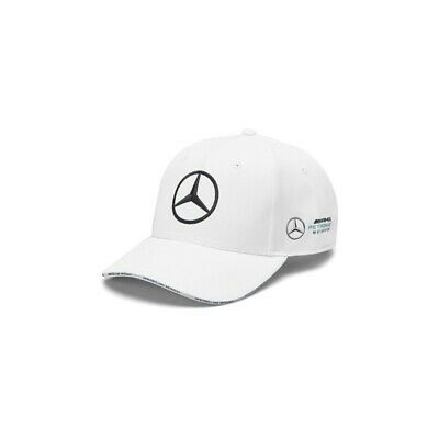 NEW 2019 Mercedes AMG Petronas F1 Team WHITE Baseball Cap Hat OFFICIAL