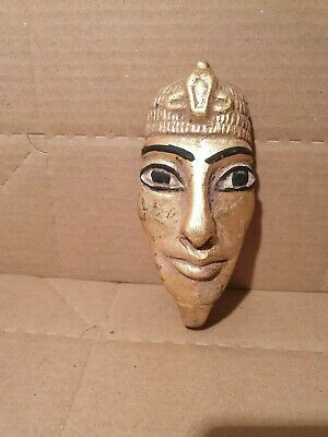 Scarce Antique Ancient Egyptian mask king Akhenaten worship sun 1 God 1360BC
