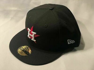 Houston Astros New Era 59Fifty Custom Fitted Cap Hat Sz 7 3/8 *Ships In Box*