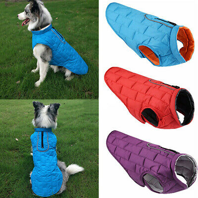 Waterproof Small/Large Pet Dog Clothes Winter Warm Padded Coat Puppy Vest Jacket
