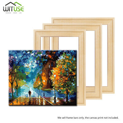 Solid Canvas Stretcher Frame Premium Pine Wood Strips Art Bars For Oil Paintings