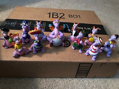 WDW Epcot Center Vintage 1980's Lot of 11 Figment PVC's From World Showcase RARE