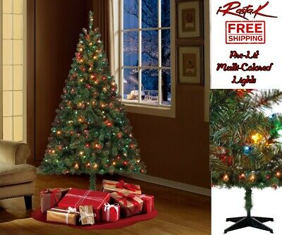 HOLIDAY TIME PRE-LIT Christmas Trees Artificial Tree Arbol ...