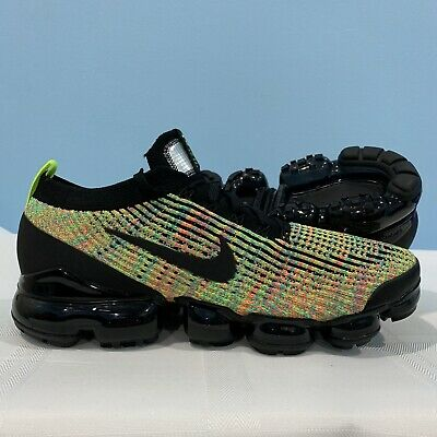 Men's Size 9.5 Nike Air Vapormax Flyknit 3 AJ6900-006 Multi Color Running Shoes