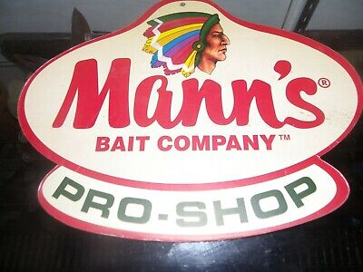 old Mann's bait company sign double sided