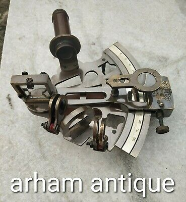Antique Solid Brass working Sextant Marine Navigation Astrolabe Sextant