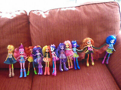 My Little Pony Equestria Girls Bundle 11 dolls Hasbro dressed with shoes