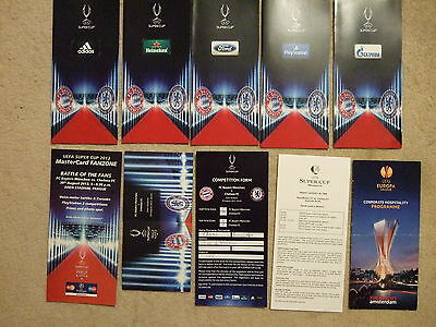 sponsors itinerary card by ford uefa  2013 super cup chelsea v bayern munich