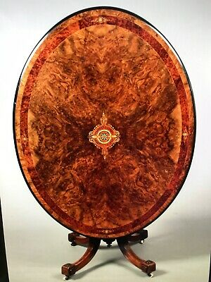 Absolutely Stunning Victorian Tilt Top Table With Intricate Inlaid Marquetry