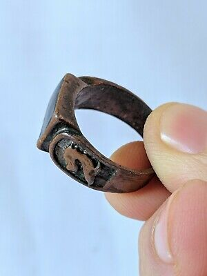 Ancient Antique Roman Ring Bronze Artifact Very Old Stuning Extremely Rare