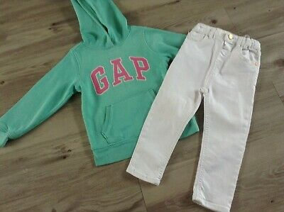 (W14) Gap River Island Girls Small Autumn Winter Bundle/Outfit 3-4Yr Hoody Jeans