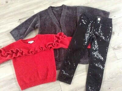 (W14)River Island Next Primark Girls Small Autumn Winter Bundle / Outfits 4Yrs