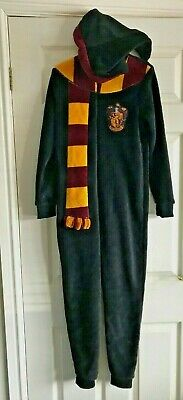 Harry Potter All in one Unisex Black Fleece Gryffindor One Piece age 11-12 years