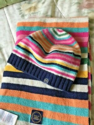 """Joules Wool Blend """"Bawdy"""" Hat and Scarf Set"""