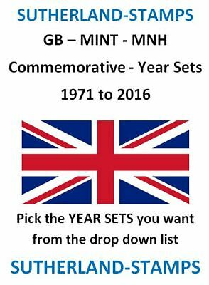 CHEAP MINT Commemorative Year Sets 1971 - 2013 - NEW Listing Sutherland-stamps