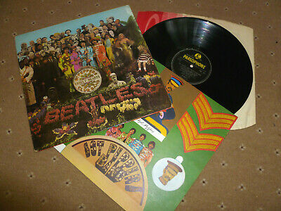 Beatles WIDESPINE Sgt Pepper UK Lp -1/-1 mono 1st press PMC 7027 COMPLETE