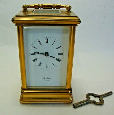 Mid 20th century brass cased carriage clock marked St James London