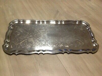 Lovely Quality Antique Large Oblong Silver Plated Tray Francis Howard Sheffield.