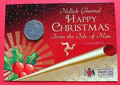 2011 Father Christmas 50p  Coin Isle of Man in presentation Cover Sealed UNC