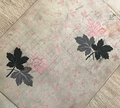 1 BEAUTIFUL MID 19th CENTURY ANTIQUE HAND PAINTED FRENCH SILK RIBBON DESIGNS 4.
