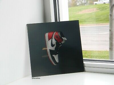 Hype beast  Wall Art Decor AJ1 Air Jordan 1 Glass Nike sneaker Display