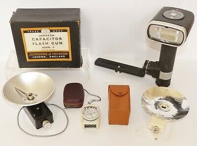 Collection of Vintage Camera Photography Equipment - Flash Light Meter Toshiba